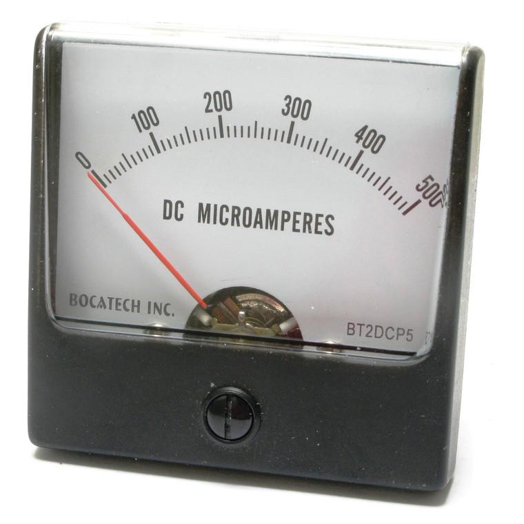 0 - 500 Microamperes DC Panaview Analog Panel Meter, 2.5 Inch