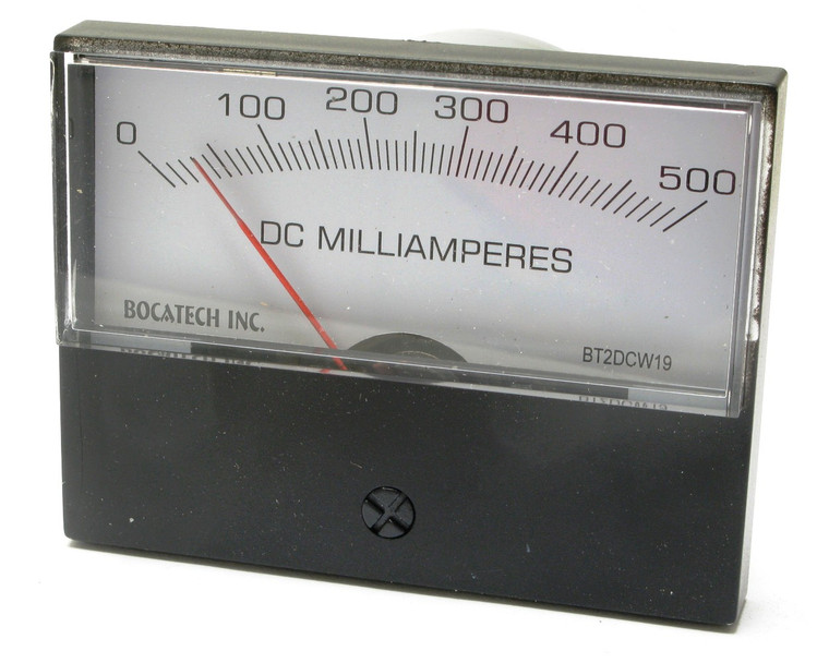 0 - 500 Milliampers DC, Analog Panel Meter, 3 Inch