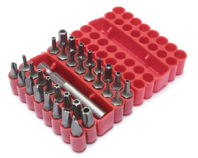 Tamper Proof Security Bit Set 33 Piece, with Storage Case