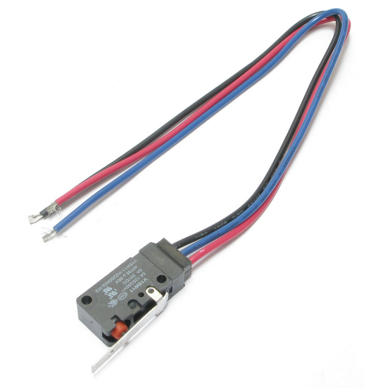 Miniature Snap Switch with Standard Straight Lever SPDT, Wire Leads