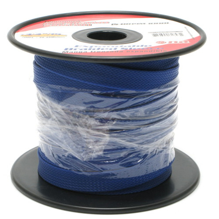 Expandable Braided Sleeving 3/4 Inch Blue
