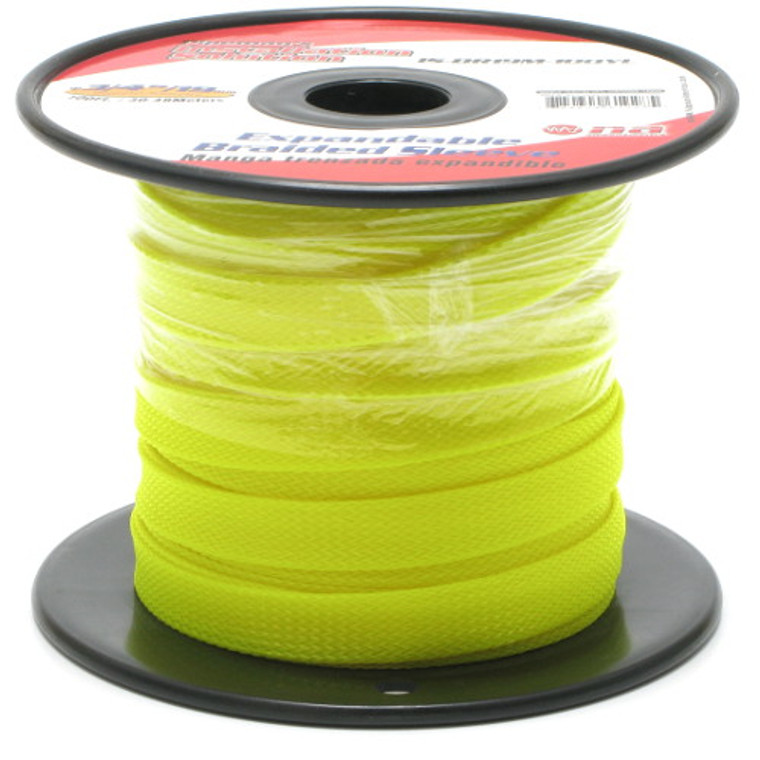 Expandable Braided Sleeving 1/4 Inch Yellow