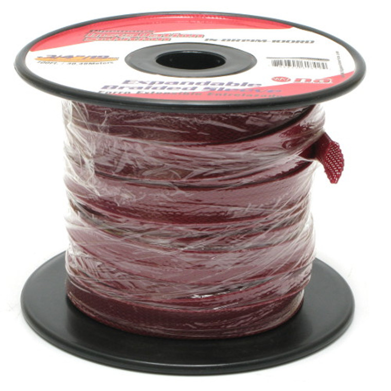 Expandable Braided Sleeving 1/4 Inch Red