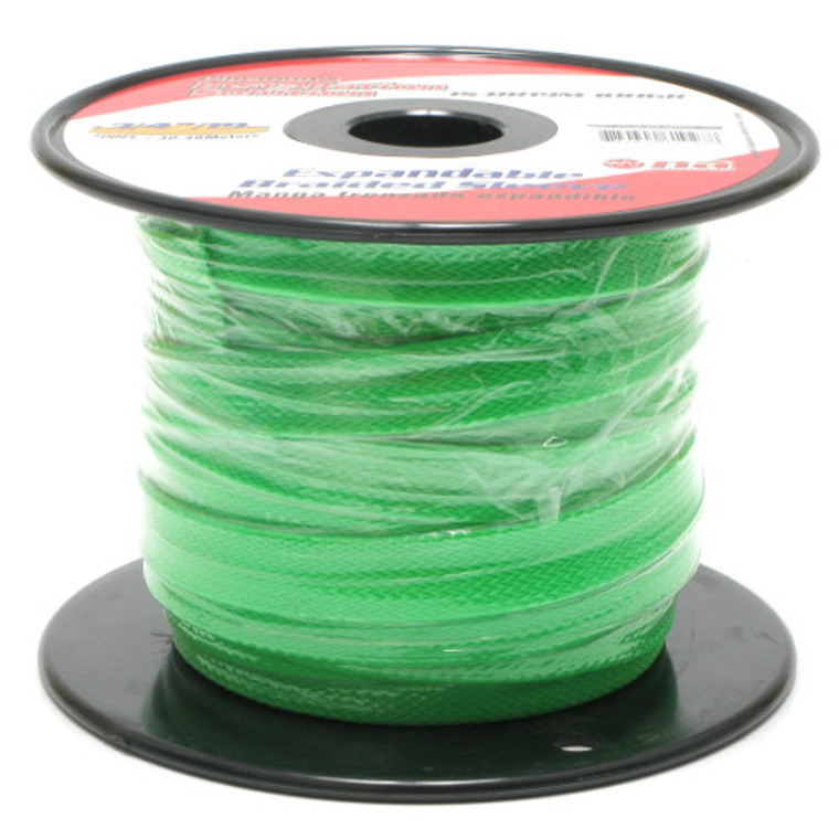 Expandable Braided Sleeving 3/4 Inch Green