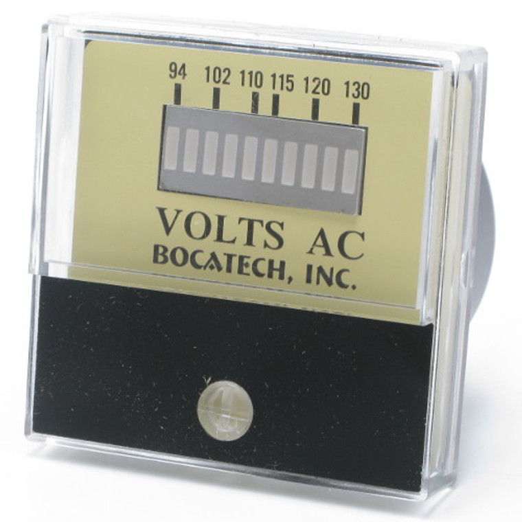 94-130 Volt AC Panel Meter with 10 LED Bar Display