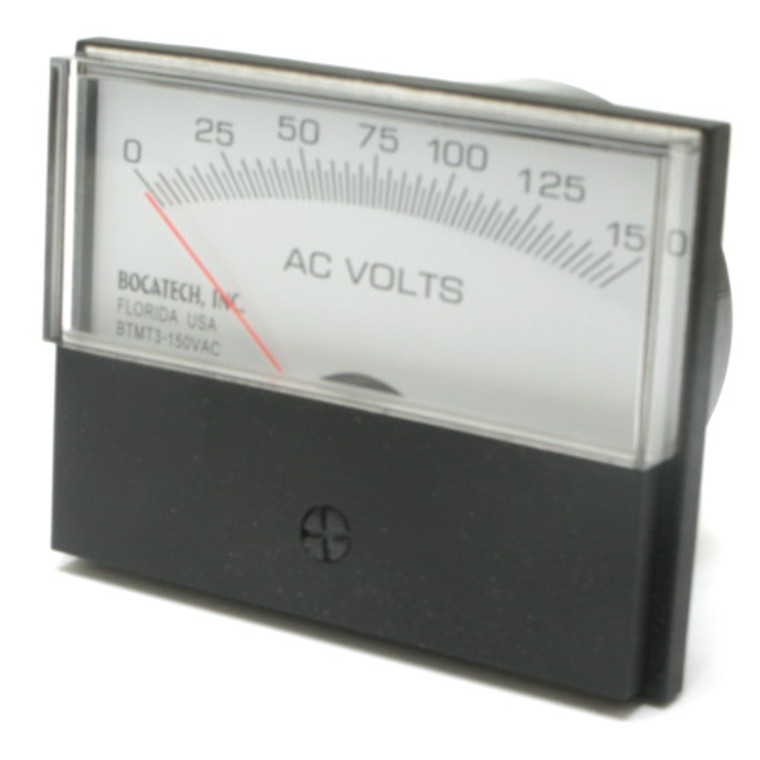 0 - 150 Volt AC Analog Surface Mount Panel Meter