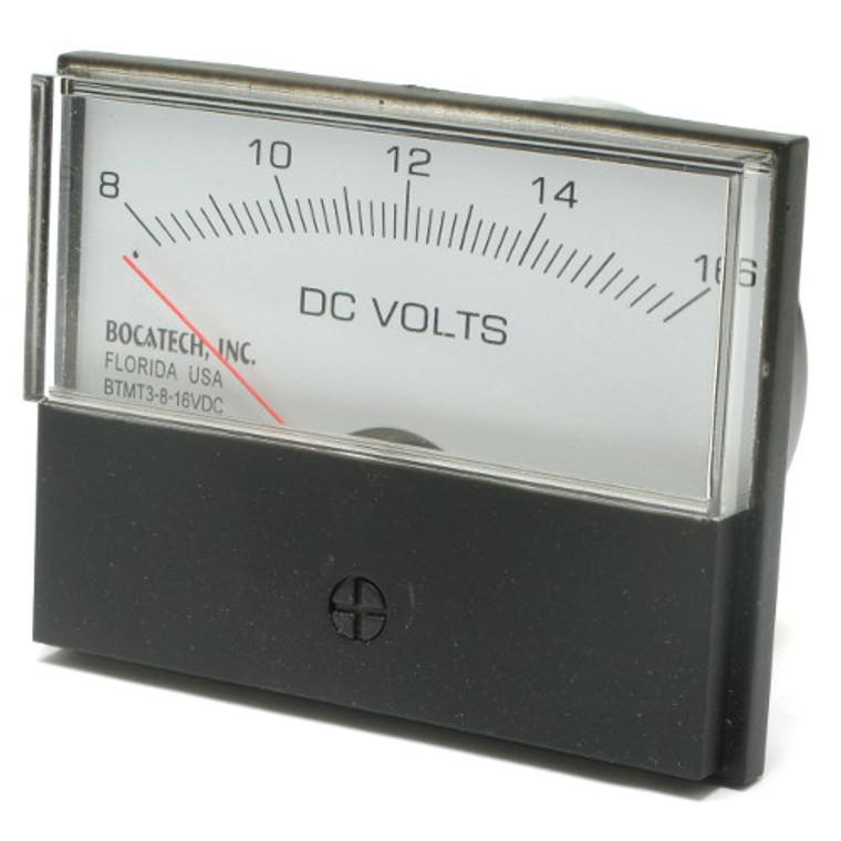 8 - 16 Volt DC Analog Panel Meter