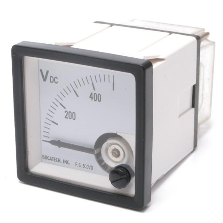 0 - 500 Volt DC Analog Panel Meter
