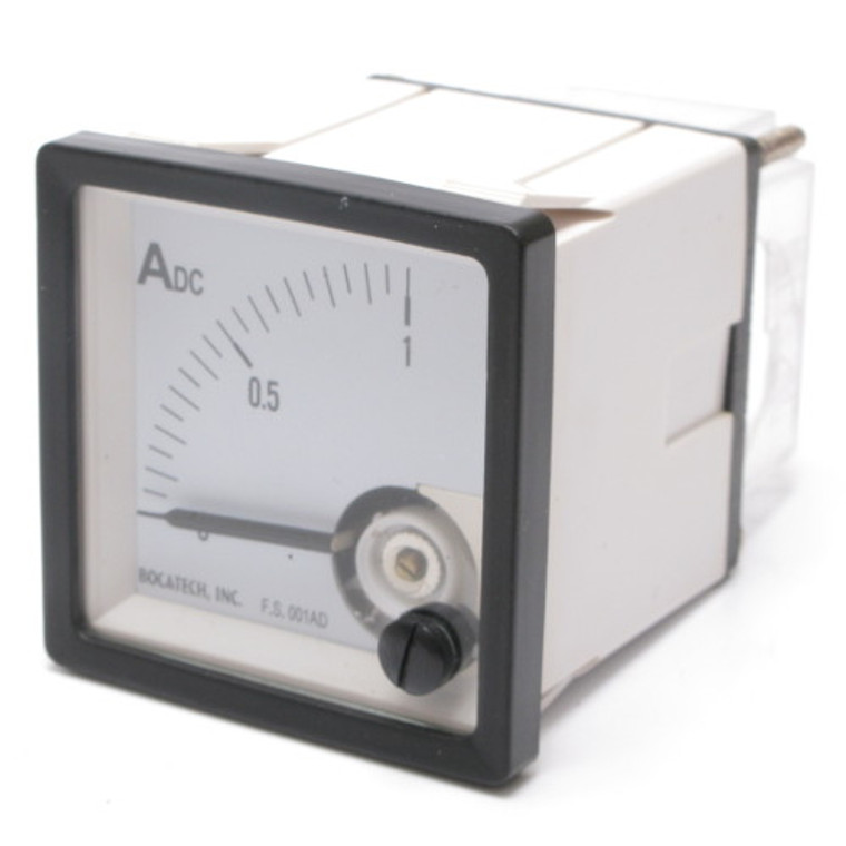 0 - 1 Amp DC Analog Panel Meter with 0.05 Amp Divisions