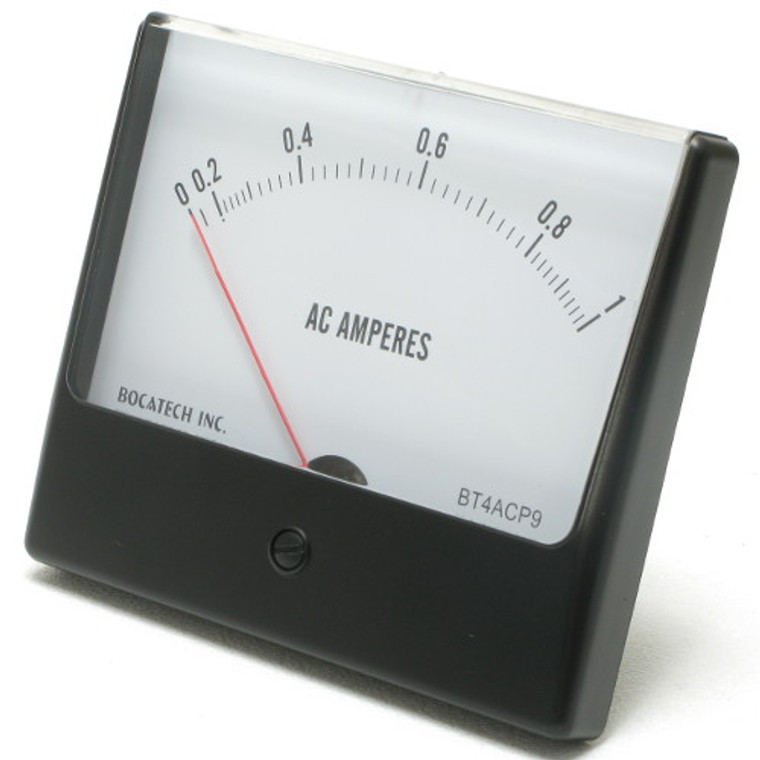 0 - 1 Amperes AC Analog Panel Meter