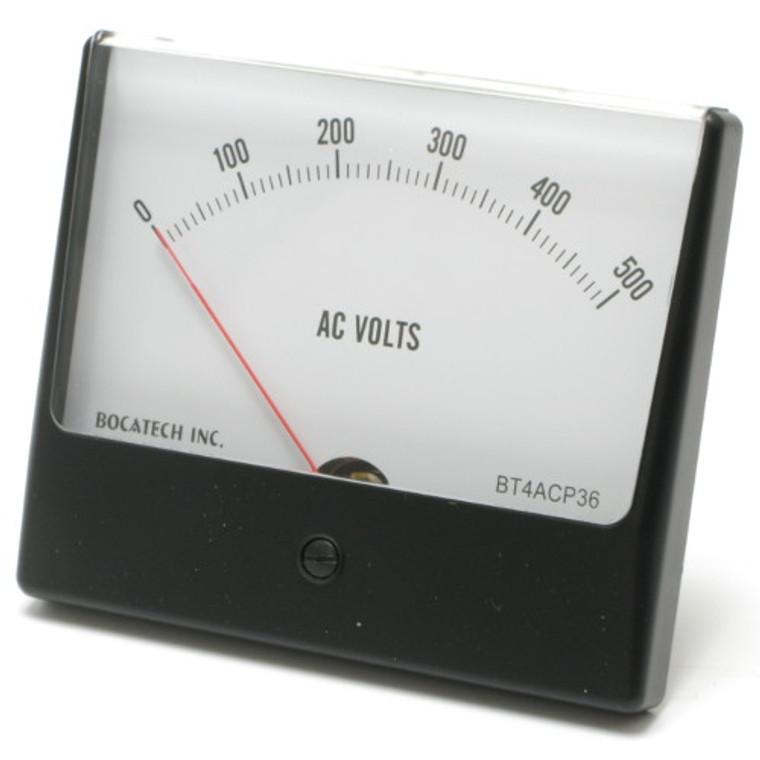 0 - 500 Volt AC Panaview Analog Panel Meter