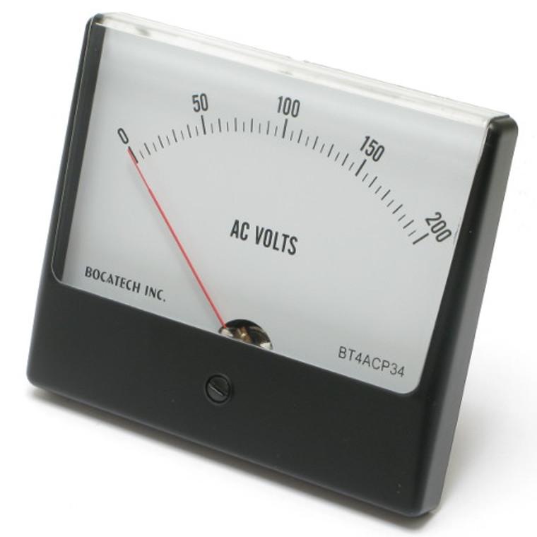 0 - 200 Volt AC Panaview Analog Panel Meter