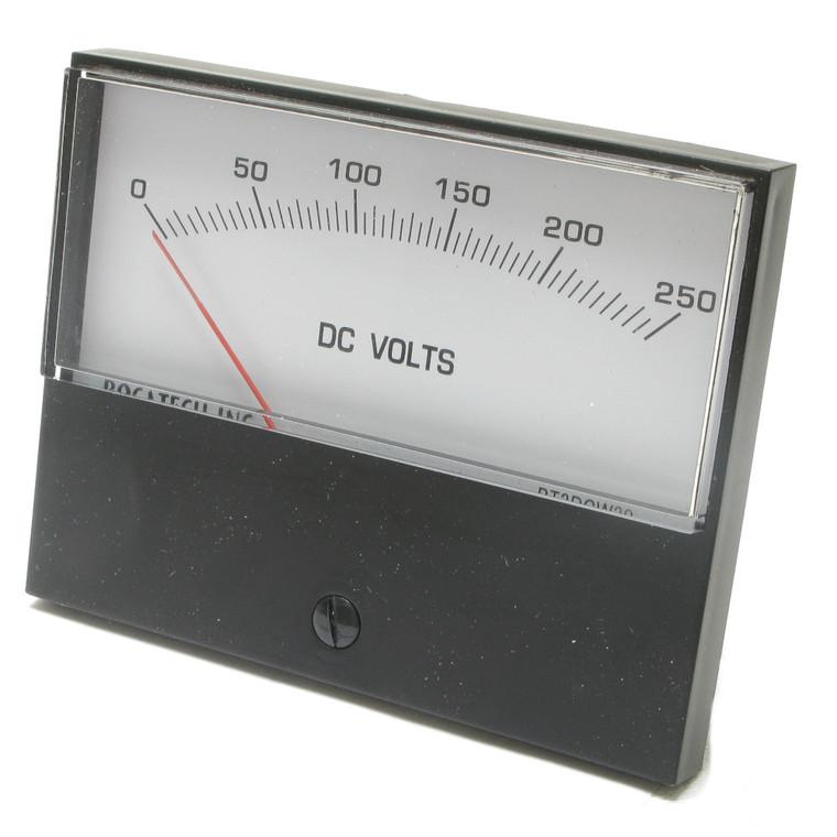 0 - 250 Volt DC Analog Panel Meter