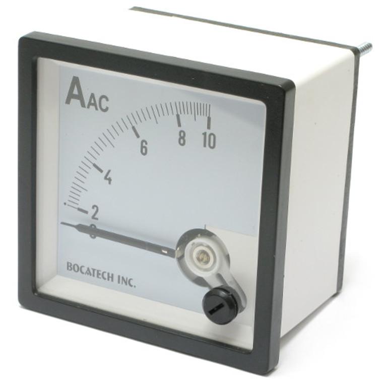 0 - 10 Ampere AC Analog Panel Meter