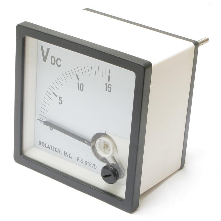 0 - 15 Volt DC Europa Analog Panel Meter, 72mm