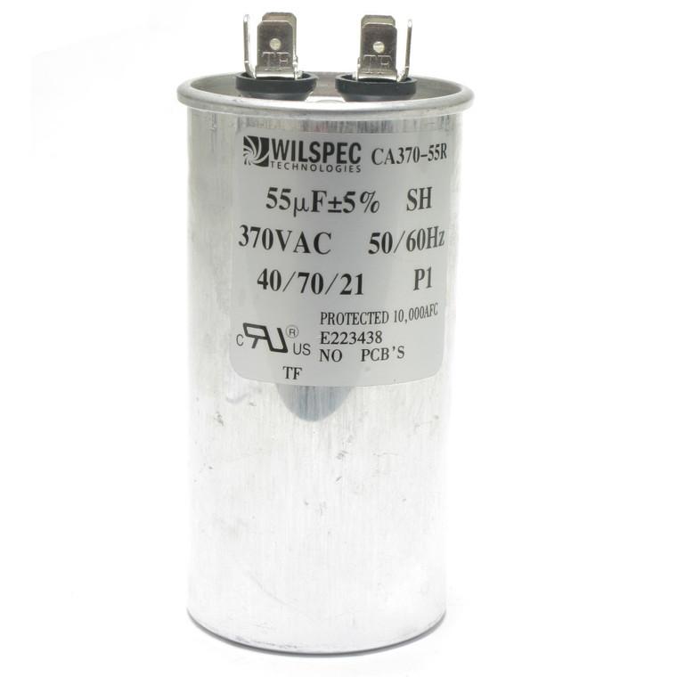 55 MFD at 370 Volt AC Motor Run Capacitor