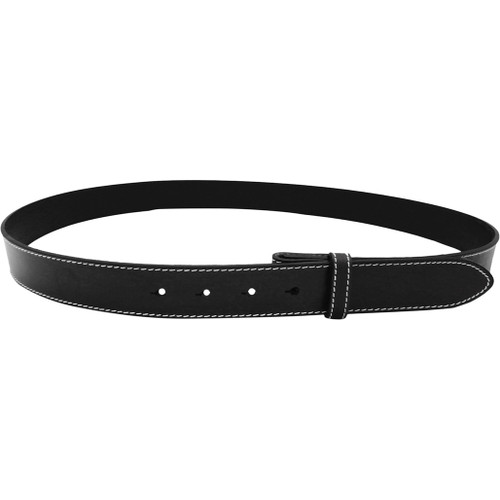 "LILO Collections 1.25"" Spanish Leather belt strap in Classic black"