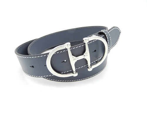 LILO Collections Bilbao Grande silver buckle on a Graphite Gray strap
