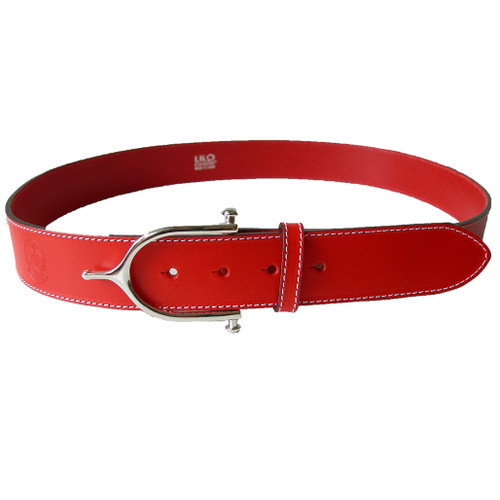 LILO Collections Iglesia Grande buckle in silver on a red strap