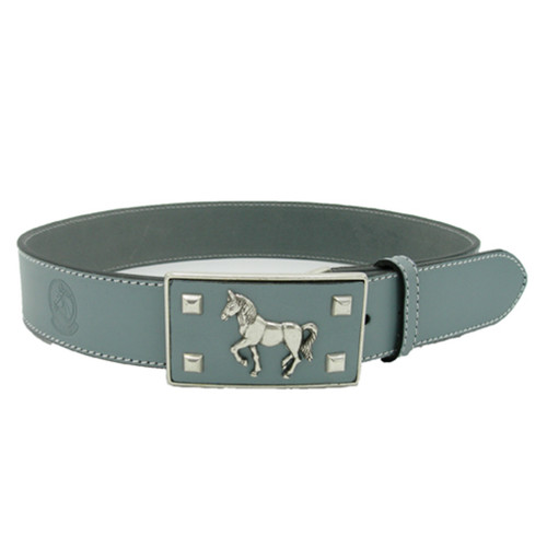 LILO Collections Pegasus buckle on a matching grey strap