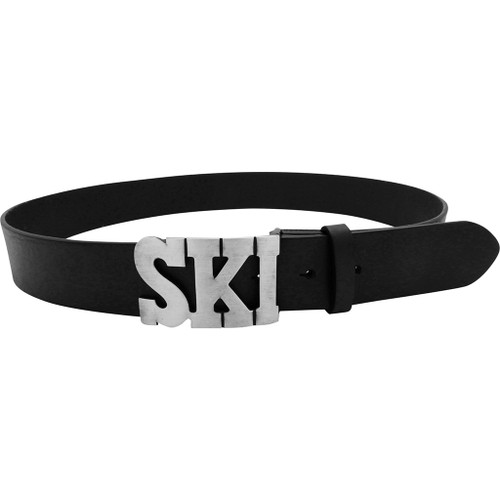 LILO Collections Ski buckle in silver on Vintage Black strap