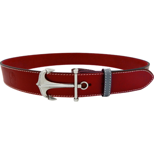 LILO Collections Ancora buckle on Classic Red strap with Grey accent