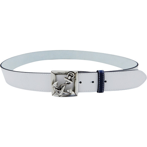 LILO Collections Ancla buckle on Classic White strap with Navy accent