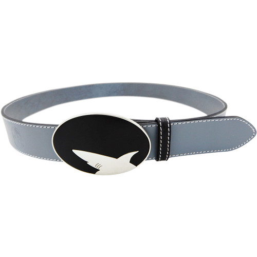 LILO Collections Tiburon buckle on a Classic Grey strap with Black accent