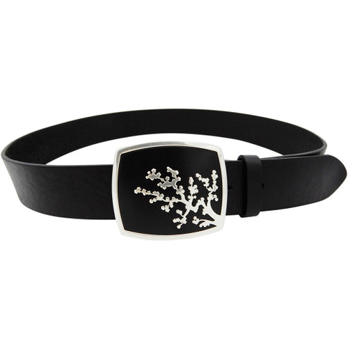 LILO Collections Coral buckle on a Vintage Black strap with matching accent