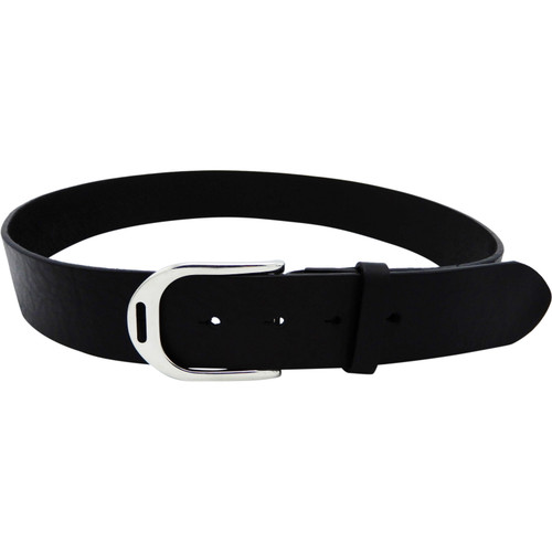 LILO Collections Estribo buckle in Silver on a Vintage Black strap with matching accent