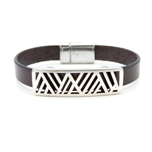 LILO Collections Geo Mountain bracelet in Brown