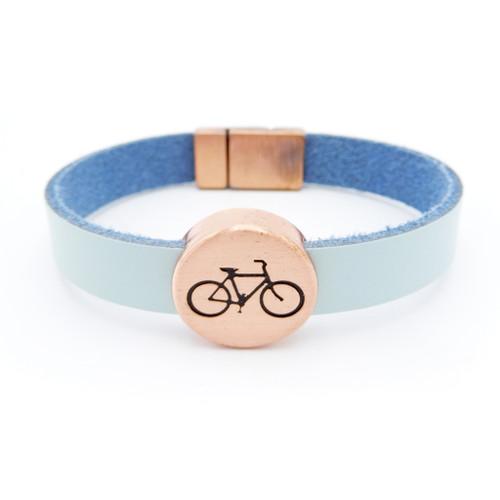 LILO Collections Cortina Bracelet with Copper finish and Aqua strap