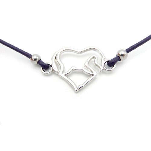 LILO Collections Dancer Skinny Necklace on purple cord