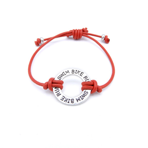 LILO Collections Brick Skinny Bracelets in Red