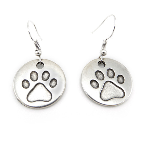 LILO Collections Paw Print Disc Earrings