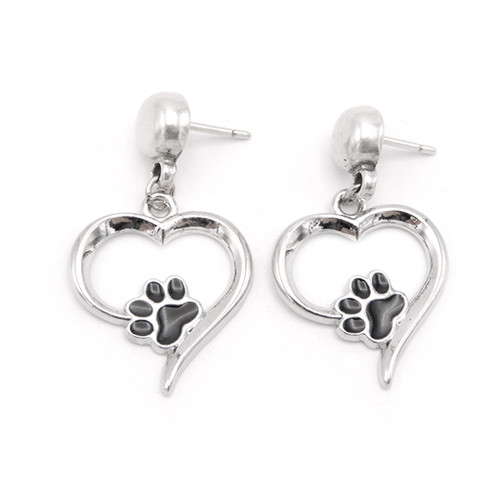 LILO Collections Heart and Paw Stud Earrings