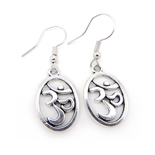 LILO Collections Om Cutout Oval Earrings