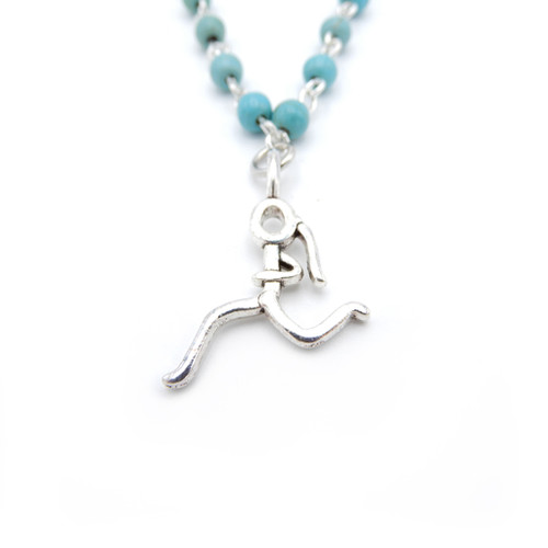 LILO Collections Running Girl Beaded Necklace