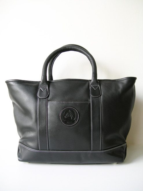 LILO Hamptons Leather Boat Tote Black