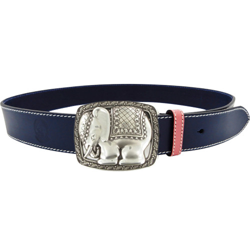 LILO Collections Elephant buckle on Navy strap with Pink accent