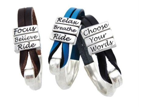 LILO Collections Triana Bracelet with brown, blue, and black leather