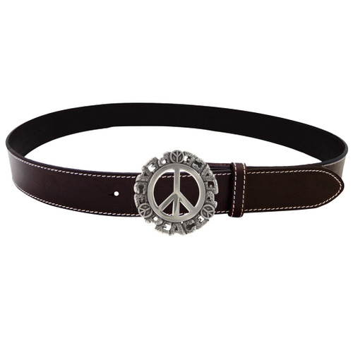 LILO Collections Santi round belt buckle on classic brown strap