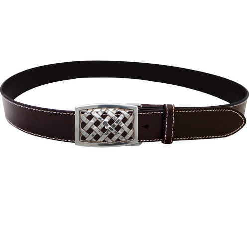 LILO Collections Trellis Belt on Classic Brown strap