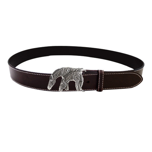 LILO Collections Zebras belt on Classic Brown strap