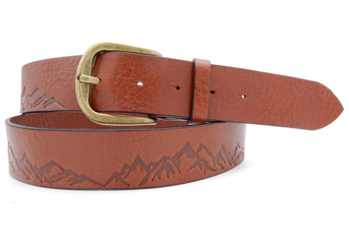 mountains peaks belt brown
