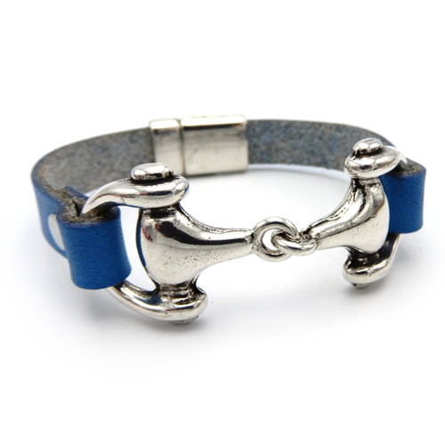 LILO Collections Conte Chunky Bit Bracelet in Navy