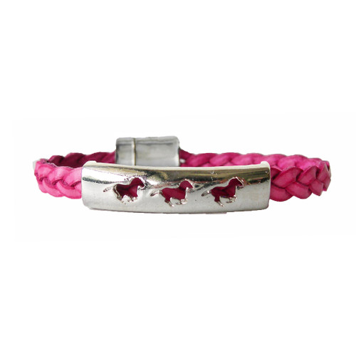 LILO Collections 3 Ponies bracelet in raspberry