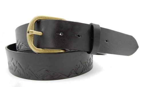 mountains peaks belt black