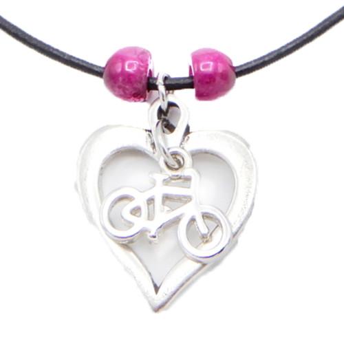 Bike Love Beaded Skinny Necklace