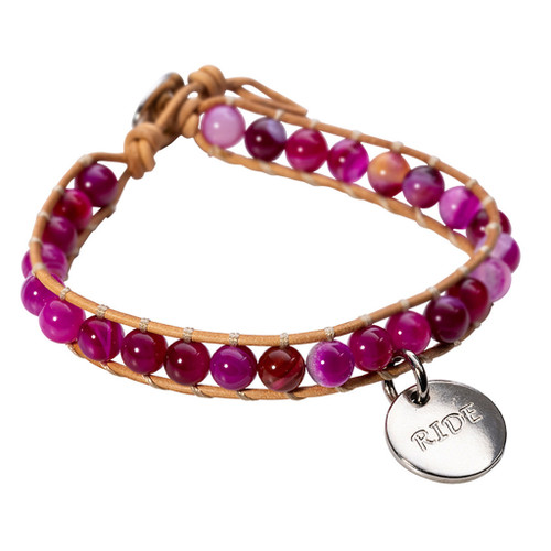 LILO Collections Piedras Ride Bracelet in Pink Agate